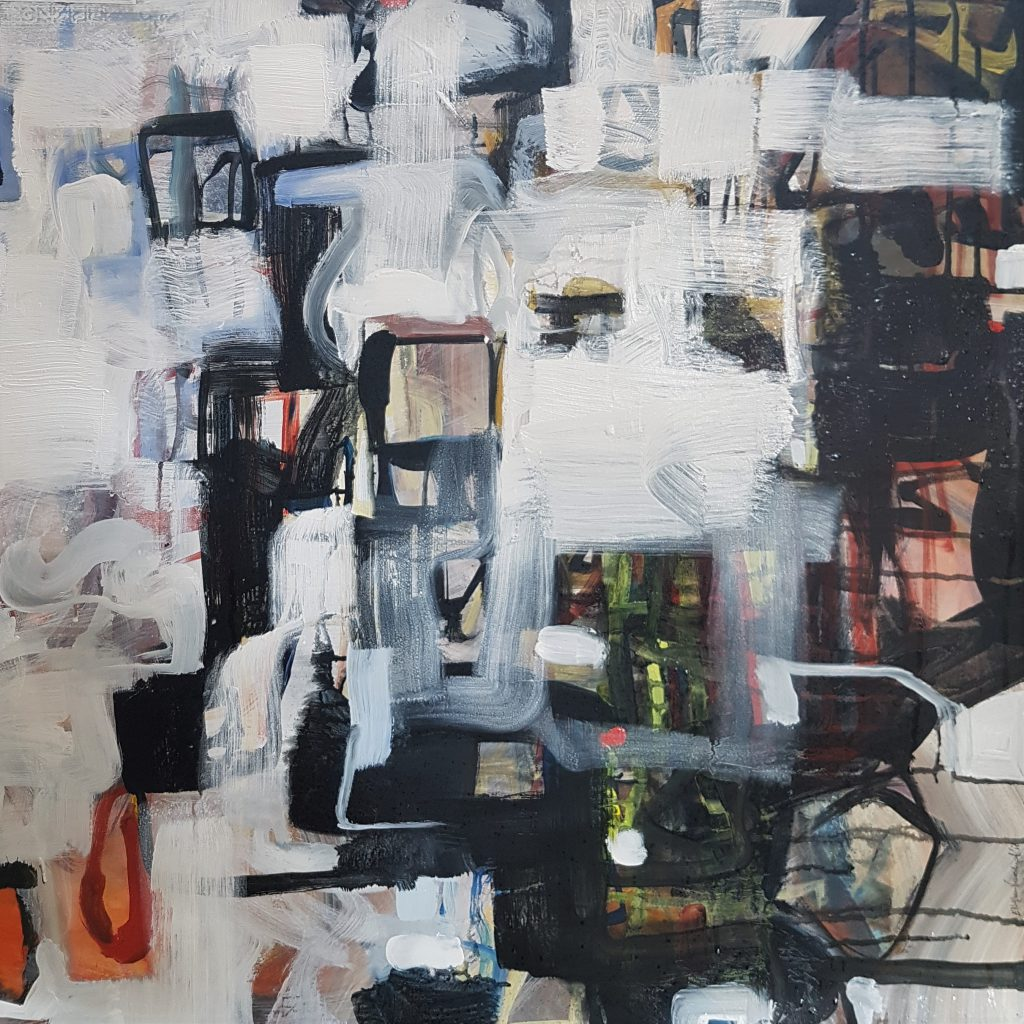 Abstract 2, mixed media, 70x70 cm