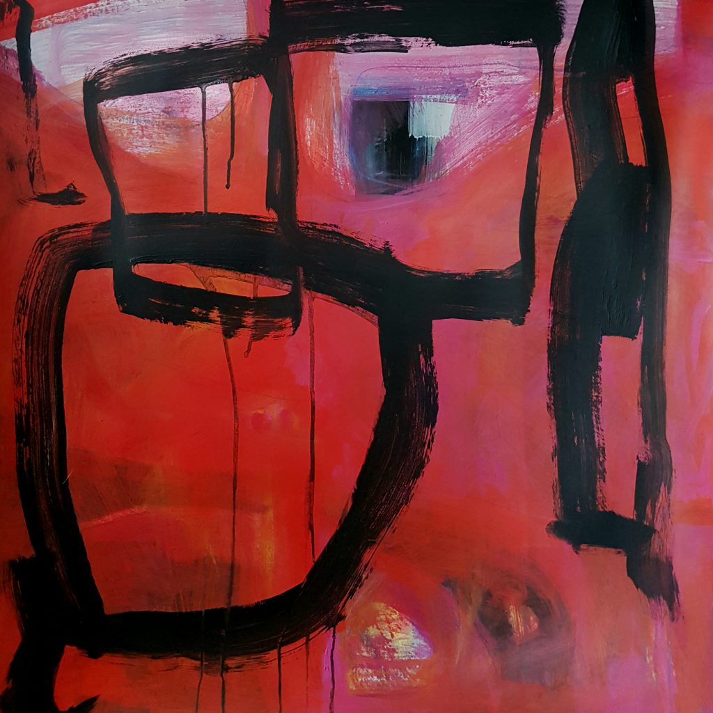 Abstract 3, mixed media, 70x70 cm