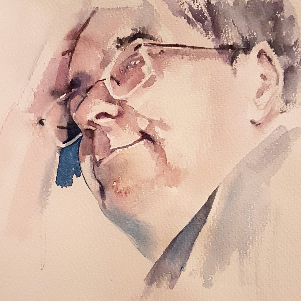 Elton, watercolor, 30x30 cm