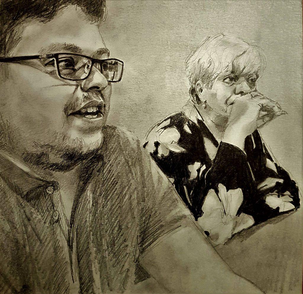 Familia, tekening, 30x30 cm