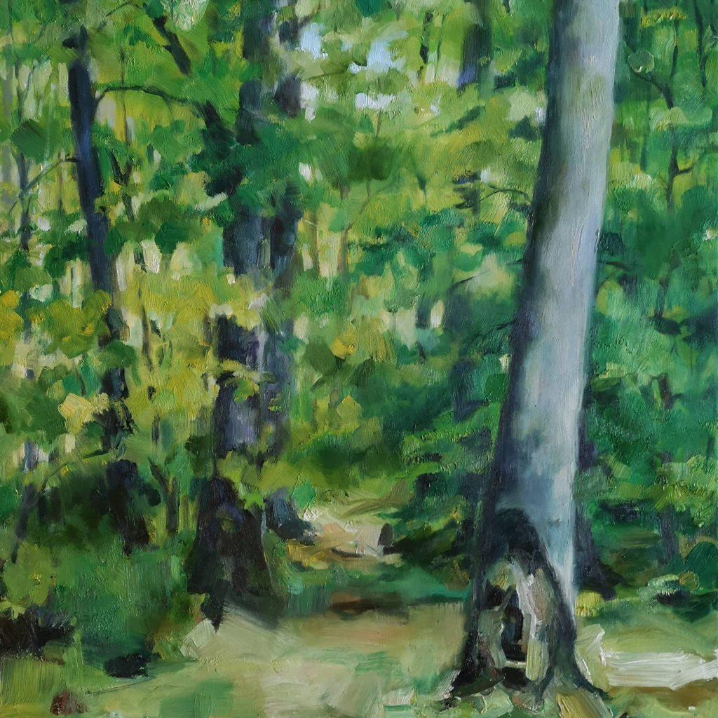 Forêt des Colettes, spring, oilcolor, 60x60 cm