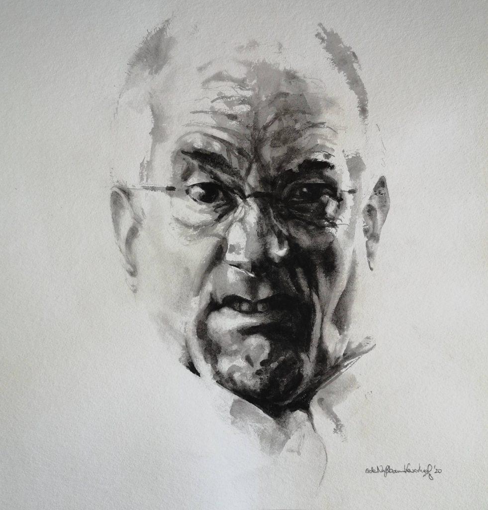 Funny face, aquarel, 30x30 cm