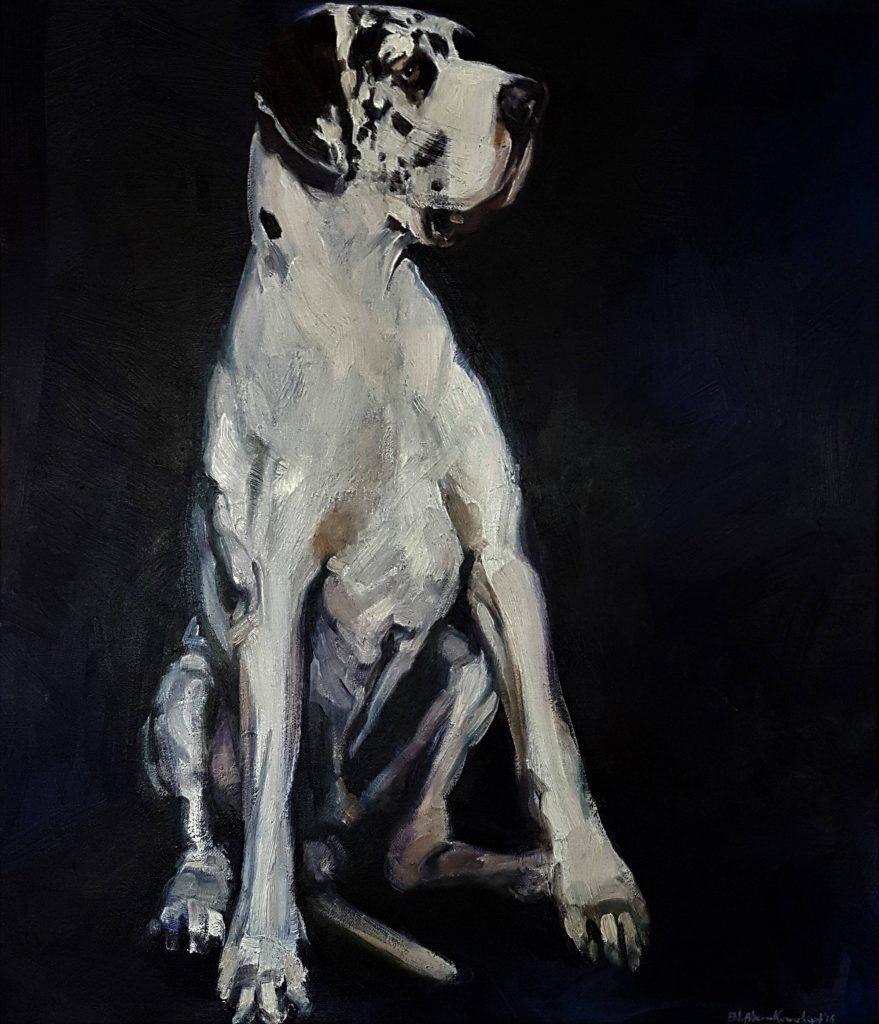 Great dane, oilcolor, 100x70 cm