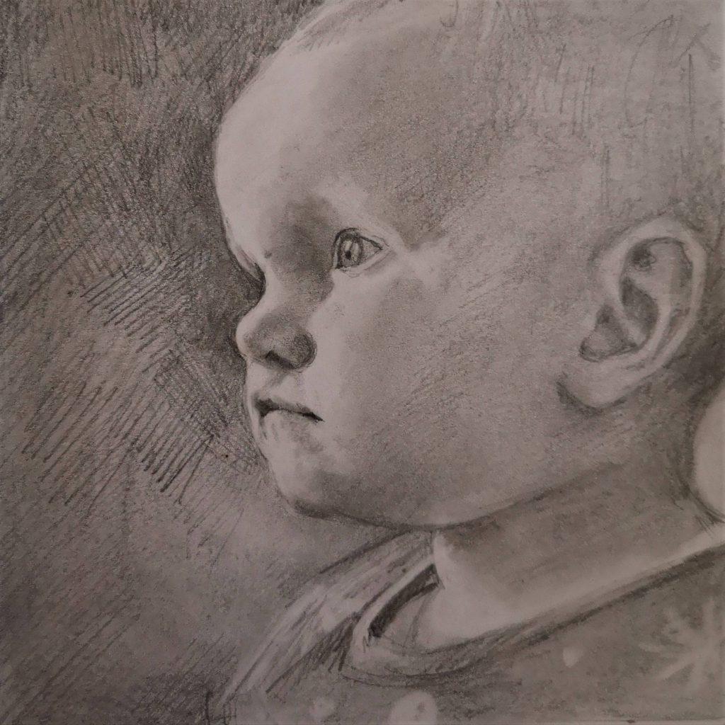 Kiki, pencil, 30x30 cm