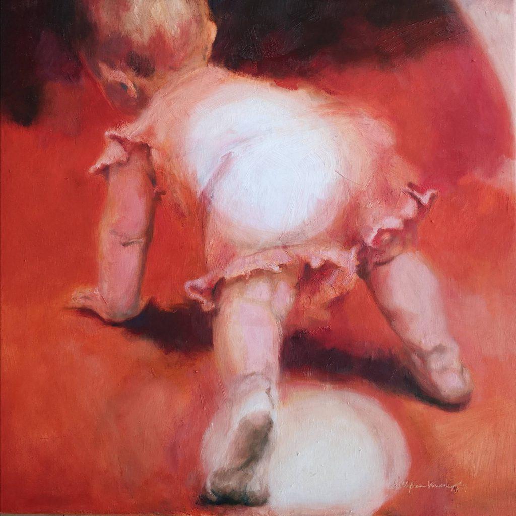 Lightfall, oilcolor, 40x40 cm