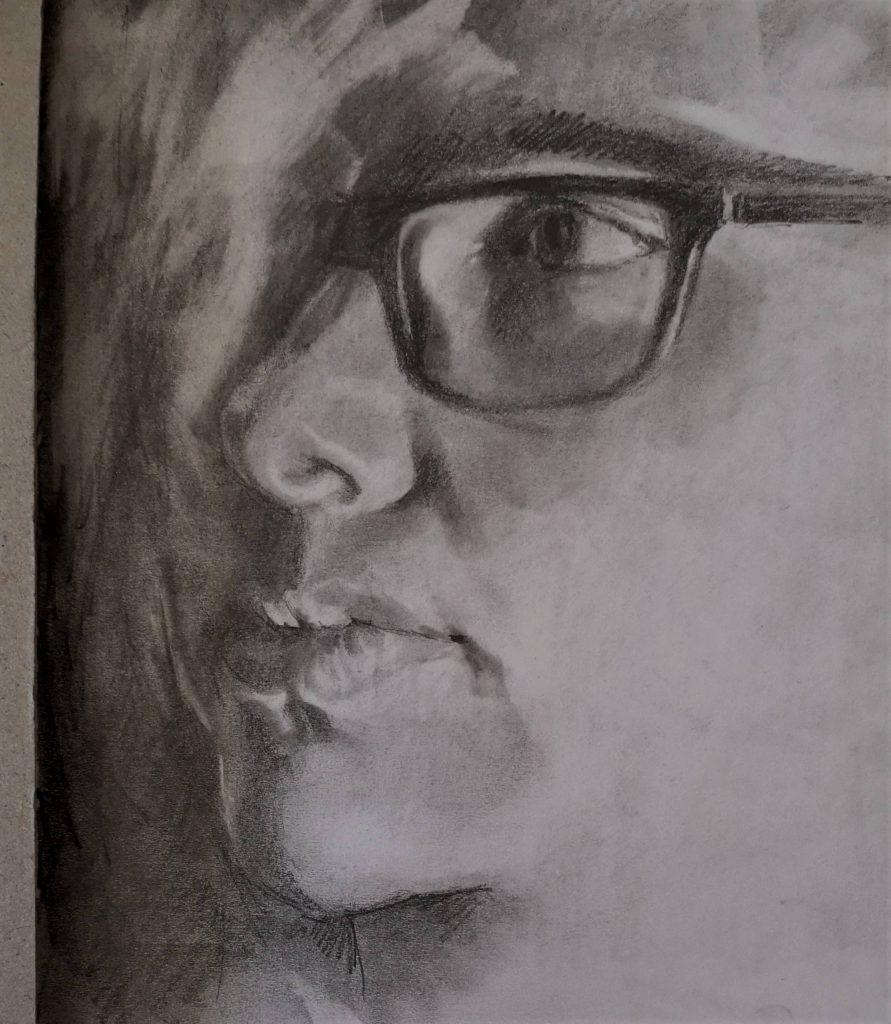 Maaike, drawing, 30x20 cm