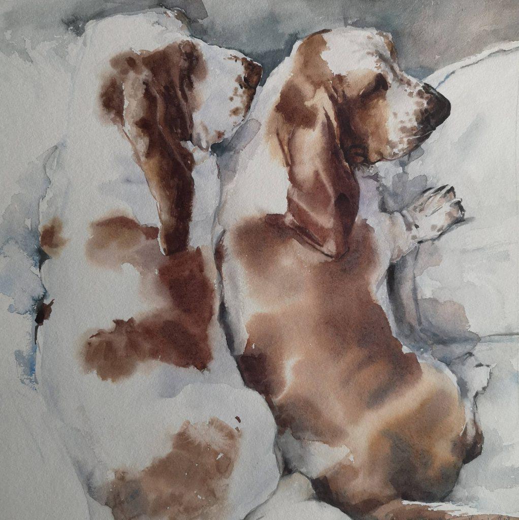Max and Moritz, watercolor, 30x30cm