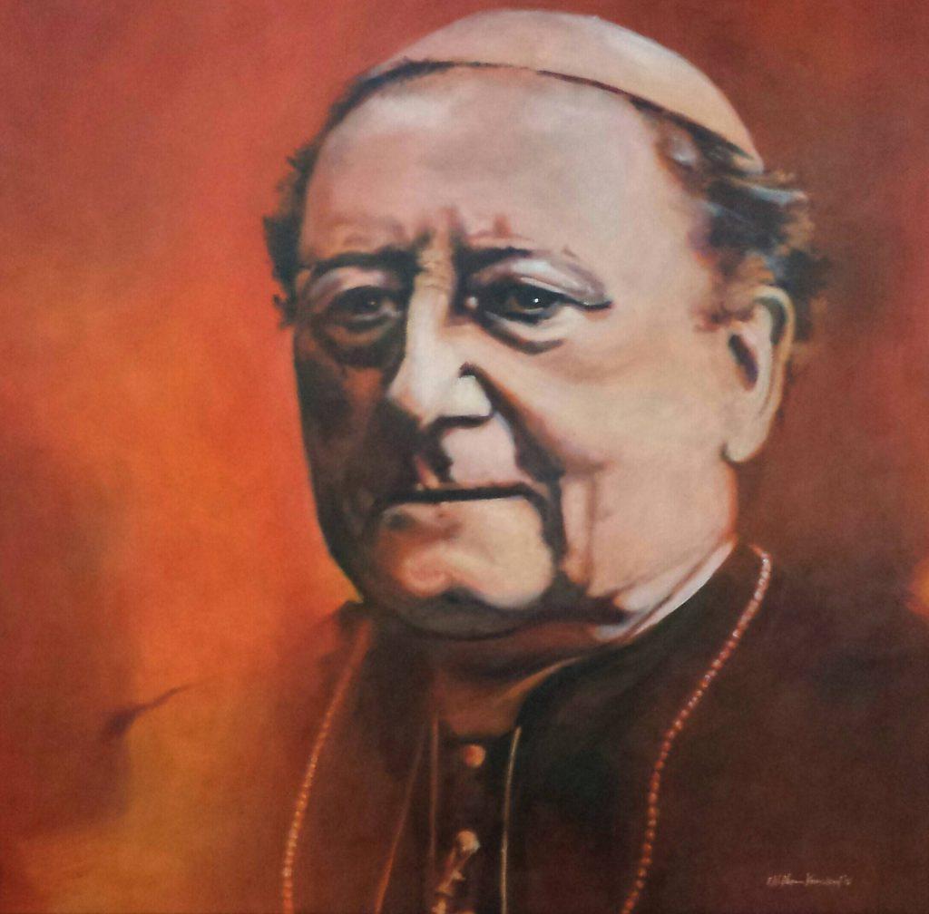 Monseigneur van de Wetering, acrilics, 70x70 cm