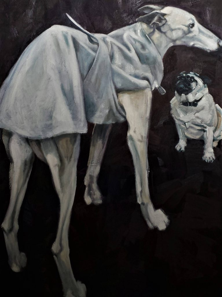 Nina and Polly, oilcolor, 100x70 cm