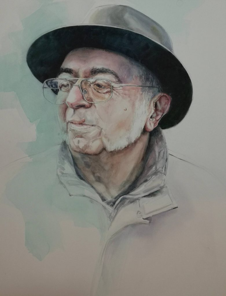 René Piotte, watercolor, 100x70 cm